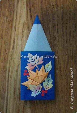 """Спешу поделиться с вами, дорогие мастерицы, открыточками ко Дню учителя, в которых главным действующим """"лицом"""" является карандаш. В первой мини-открытке их три, разного цвета, размера  и преподнесены они как бы в букете, на фоне формул) фото 2"""