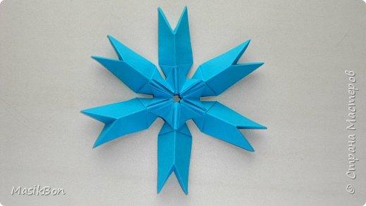 Оригами Снежинка из бумаги ❄