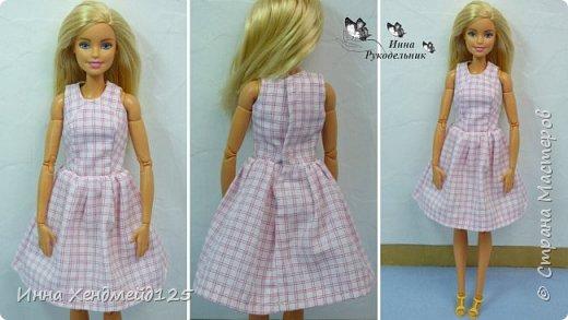 Сшила платья без рукавов для кукол Барби и Эппл Вайт. Эту одежду они будут носить  и показывать в мультсериале с куклами, который есть на моём канале.  Я не швея, а любитель, шью вещи на своё усмотрение.  Материалы: хлопок, нитки, кнопки, пуговицы, нить-резинка. фото 3