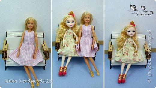 Сшила платья без рукавов для кукол Барби и Эппл Вайт. Эту одежду они будут носить  и показывать в мультсериале с куклами, который есть на моём канале.  Я не швея, а любитель, шью вещи на своё усмотрение.  Материалы: хлопок, нитки, кнопки, пуговицы, нить-резинка. фото 8