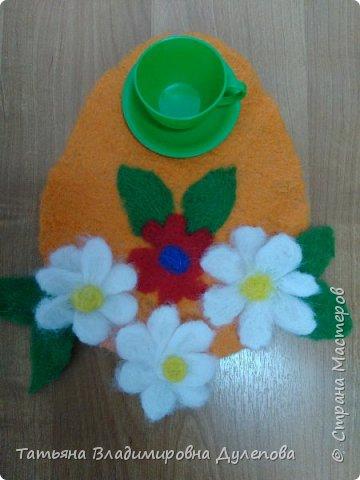 Листочек с цветком фото 2