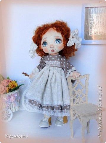 Моя нежная девочка. Кукла текстильная. фото 3