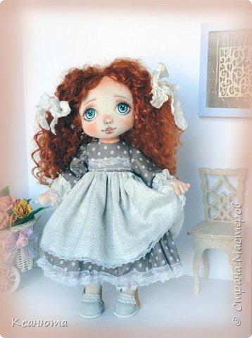 Моя нежная девочка. Кукла текстильная. фото 5