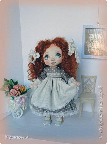 Моя нежная девочка. Кукла текстильная. фото 6