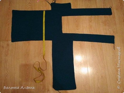 Отчитываюсь по своему же марафону) Начало работы представлено на фото.  Здесь связан один рукав и начало вязания спинки и полочки.  фото 5