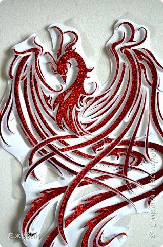 Есть два одинаковых комплекта деталей для феникса из разных материалов. 1. красный искрящийся и.... фото 1