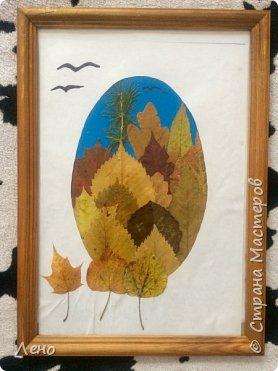 Аппликация из листьев фото 2