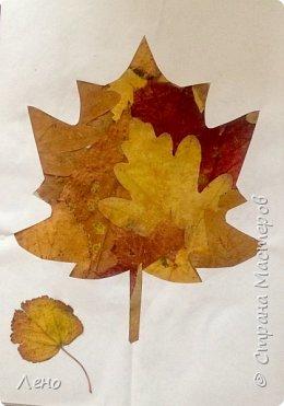 Аппликация из листьев фото 1
