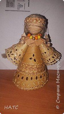 Берестяная куколка, первый опыт. Делала по образу и подобию в интернете. Экологически чистый материал. фото 1