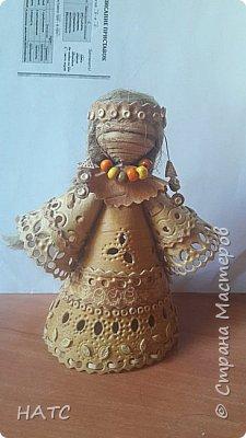 Берестяная куколка, первый опыт. Делала по образу и подобию в интернете. Экологически чистый материал. фото 6