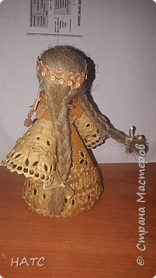 Берестяная куколка, первый опыт. Делала по образу и подобию в интернете. Экологически чистый материал. фото 5