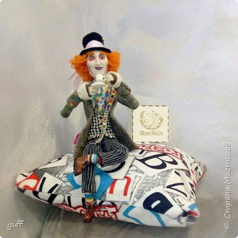 Интерьерная кукла Шляпник из «Алиса в стране чудес» фото 7
