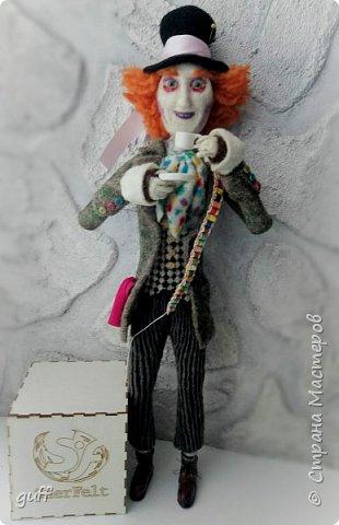 Интерьерная кукла Шляпник из «Алиса в стране чудес» фото 3