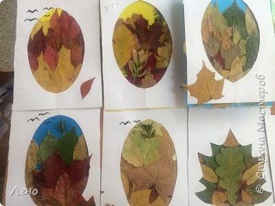 Аппликация из листьев фото 4