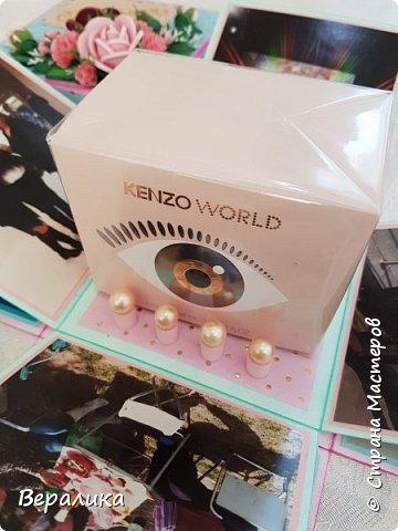 Вот такую коробочку 12х12х12см сделала на День рождения  подруженьке. фото 10