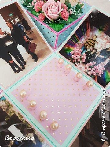 Вот такую коробочку 12х12х12см сделала на День рождения  подруженьке. фото 9