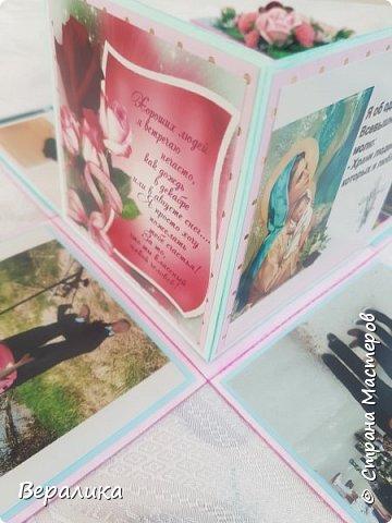 Вот такую коробочку 12х12х12см сделала на День рождения  подруженьке. фото 12