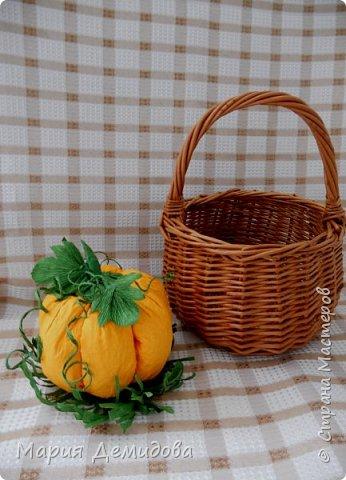 Осенняя композиция с тыквами фото 3