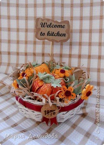 Осенняя композиция с тыквами фото 1