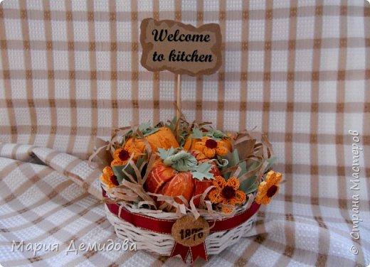 Осенняя композиция с тыквами фото 2
