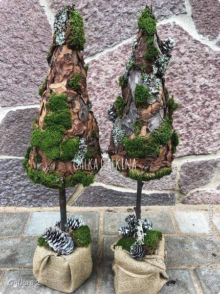 Всем привет)))) вот такие елочки в эко стиле ))) высота около 50 см  фото 1