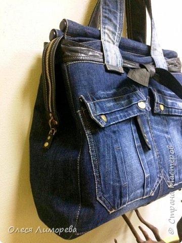 Дорожная сумка из джинсов фото 2