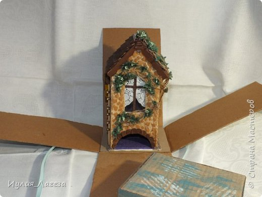 Второй чайный домик сделан для подарка.Прошу вас оценить мою работу, очень переживаю из-за молчания людей получивших его в дар. фото 10