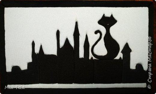 """Картина """"Кот на крыше"""""""