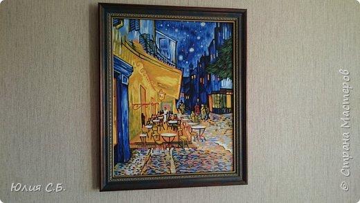 """Репродукция картины Винсента ван Гога """"Ночная терраса кафе"""". Написана им в Арле в 1888 г. Оригинал находится в музее Крёллер-Мюллер в Нидерландах.  фото 1"""