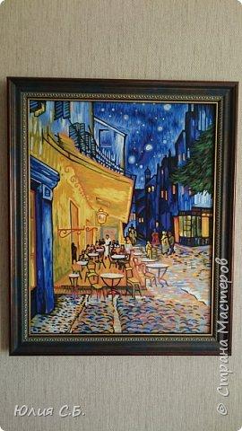 """Репродукция картины Винсента ван Гога """"Ночная терраса кафе"""". Написана им в Арле в 1888 г. Оригинал находится в музее Крёллер-Мюллер в Нидерландах.  фото 2"""