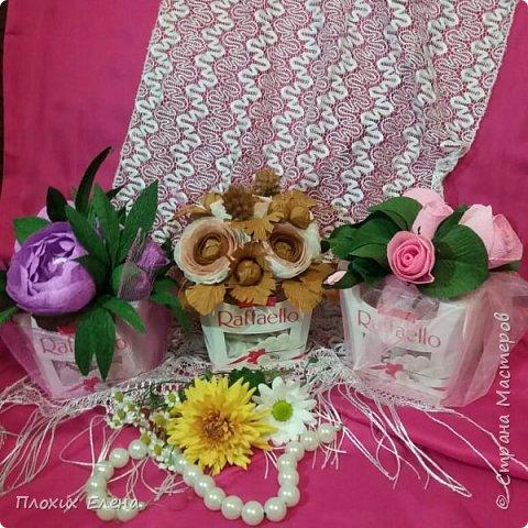 Хотите красиво подарить конфетки! это как вариант. Такие скромные , но надеюсь, приятные поздравления я сделала для наших учителей.  фото 1
