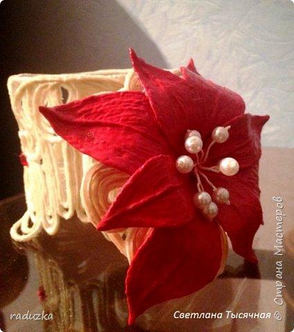 Шкатулка с цветком. Джутовая филигрань. фото 12