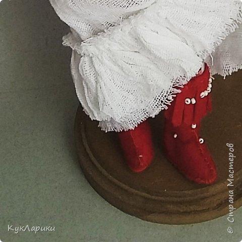 Мухомора.Кукла в технике грунтованный текстиль+декупаж.Только его под одеждой не видно.  фото 3