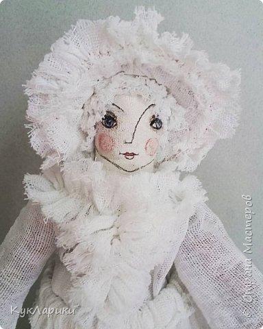 Мухомора.Кукла в технике грунтованный текстиль+декупаж.Только его под одеждой не видно.  фото 5