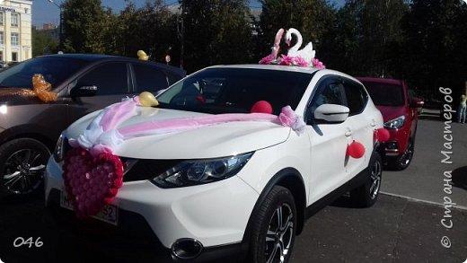 Украшение машин на свадьбу фото 1