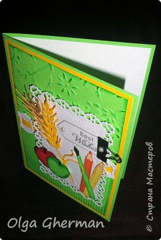 Здравствуйте, дорогие жители Страны Мастеров!  Вот , позади ещё один праздник и хлопоты, связанные с ним...  Наконец-то, появилось время поделиться с вами тем, что получилось сделать за это время... Какой же праздник без открыток ?!... Делала открытки и для своих детей ( в подарок учителям)  и на заказ.  В общем, вот что получилось у меня в этом году: фото 8