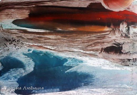 "Мои новые работы на морскую тематику.... ""ЗАКАТ в Океане"",ф.А.4 фото 1"