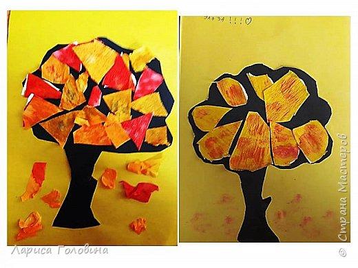 Занимаясь на курсах Татьяны Николаевны, познакомилась с различными техниками. Появилось много идей. Осенние деревья делали второклассники на внеурочке. К сожалению, фото не совсем получились. фото 2