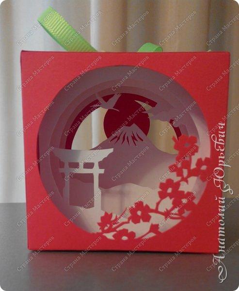 """Всем доброго времени суток! Вашему вниманию хочу представить новый кубик """" Фудзи """". - Немного информации из """"Википедии"""". - Фудзия́ма, Фу́дзи (яп. 富士山 Фудзисан (инф.)) — действующий стратовулкан на японском острове Хонсю в 90 километрах к юго-западу от Токио. Высота вулкана — 3776м. (самая высокая точка в Японии). В настоящее время вулкан считается слабоактивным, последнее извержение было в 1707—1708 году.  Гора имеет почти идеальные конические очертания и считается священной, служит объектом туризма, а также религиозного паломничества буддистского и синтоистского культов. Фудзи на протяжении веков являлась популярной темой в японском искусстве.  Фудзияма является частным владением и находится в собственности синтоистского Великого храма Хонгу Сэнгэн (яп. 富士山本宮浅間大社 Фудзисан Хонгу: Сэнгэн Тайся), в котором хранится дарственная от сёгуна, датируемая 1609 годом.  На вершине Фудзи расположены синтоистский храм, почтовое отделение и метеостанция. Окрестности горы входят в состав Национального парка Фудзи-Хаконэ-Идзу. Объект Всемирного наследия ЮНЕСКО.  - За основу кубика была взята открытка туннель увиденная на просторах интернета. Размер открытки был 130х130мм. и 7-мь слоёв. - Задача предстояла разместить всё это в размер 71х71мм. и 5-ть слоёв. - Смотрим что получилось:)) - Размер кубика 71х71мм. фото 1"""