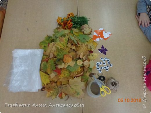 Детский мастер-класс поделки из природного материала «Сова» Представляем вашему вниманию поделки из осенних листьев, которые можно сделать легко и просто своими руками. фото 2