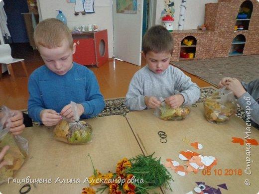 Детский мастер-класс поделки из природного материала «Сова» Представляем вашему вниманию поделки из осенних листьев, которые можно сделать легко и просто своими руками. фото 4