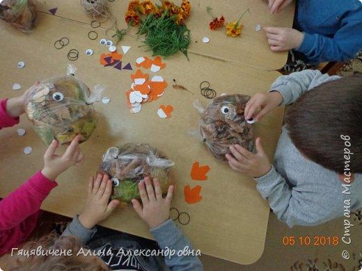 Детский мастер-класс поделки из природного материала «Сова» Представляем вашему вниманию поделки из осенних листьев, которые можно сделать легко и просто своими руками. фото 6