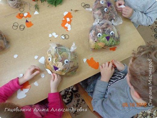 Детский мастер-класс поделки из природного материала «Сова» Представляем вашему вниманию поделки из осенних листьев, которые можно сделать легко и просто своими руками. фото 7