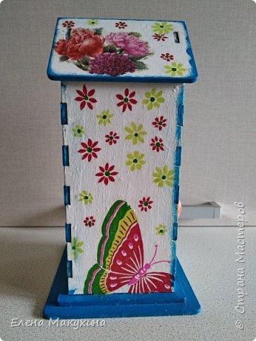 Здравствуйте, жители СМ! Давно хотела сделать чайный домик, и, наконец-то, сделала. В пару к нему - конфетница. фото 5