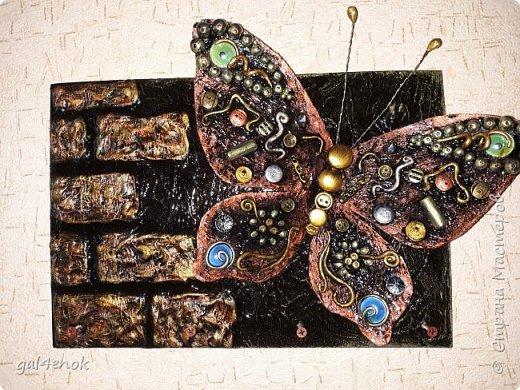 Ещё одна бабочка с яркими камушками фото 1