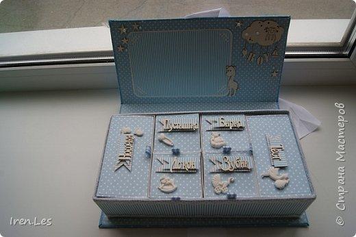 """Здравствуйте, дорогие жители Страны. Хочу показать вам коробочку """"Мамины сокровища"""", которую делала на заказ.Размер коробочки 25*12,5 см. Выполнена в голубых тонах. фото 4"""