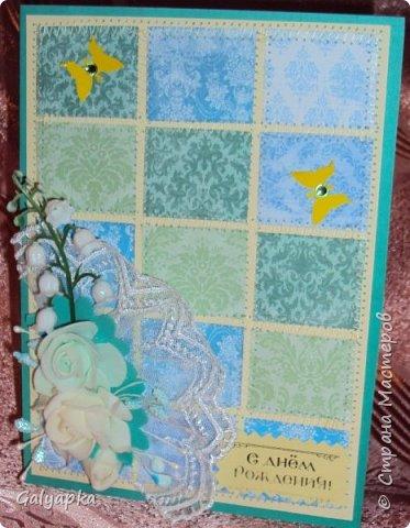 Открытки созданы по МК от марта 2011г. автора: Sveta Albert Использовала бумагу CAPSULE collection / Parisienne Blue фото 6