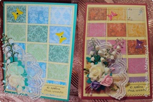 Открытки созданы по МК от марта 2011г. автора: Sveta Albert Использовала бумагу CAPSULE collection / Parisienne Blue фото 5