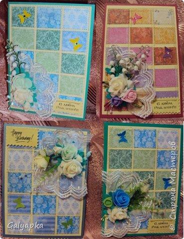 Открытки созданы по МК от марта 2011г. автора: Sveta Albert Использовала бумагу CAPSULE collection / Parisienne Blue фото 4
