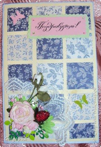 Открытки созданы по МК от марта 2011г. автора: Sveta Albert Использовала бумагу CAPSULE collection / Parisienne Blue фото 1